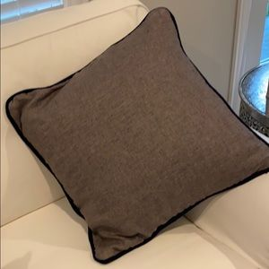 NWT JCrew Home Gray Accent Pillow